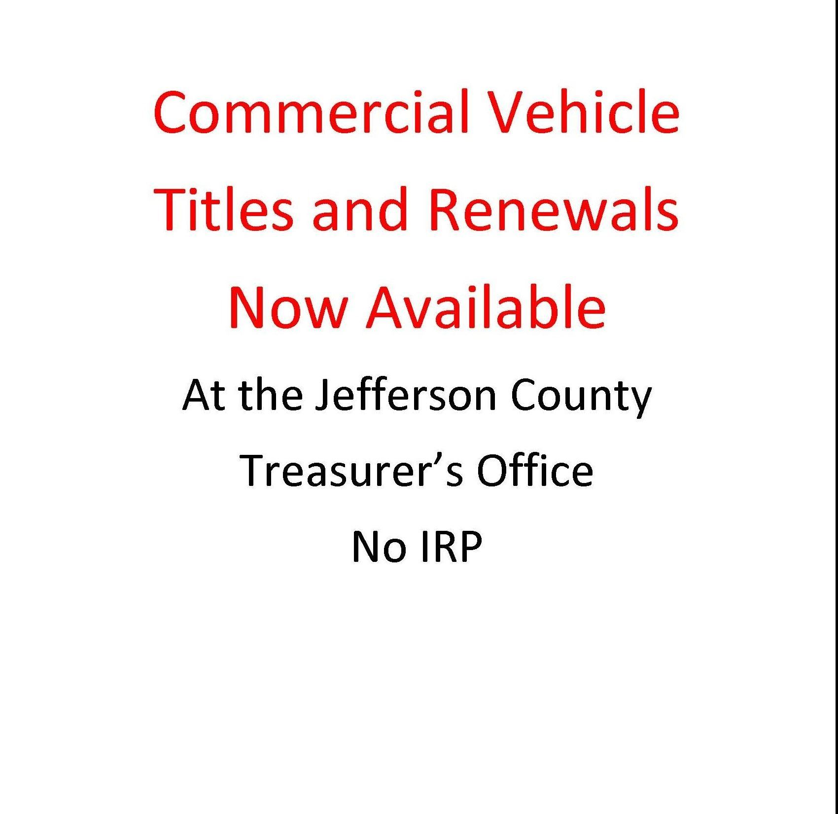 Now Available 2018 Commercial Drives License