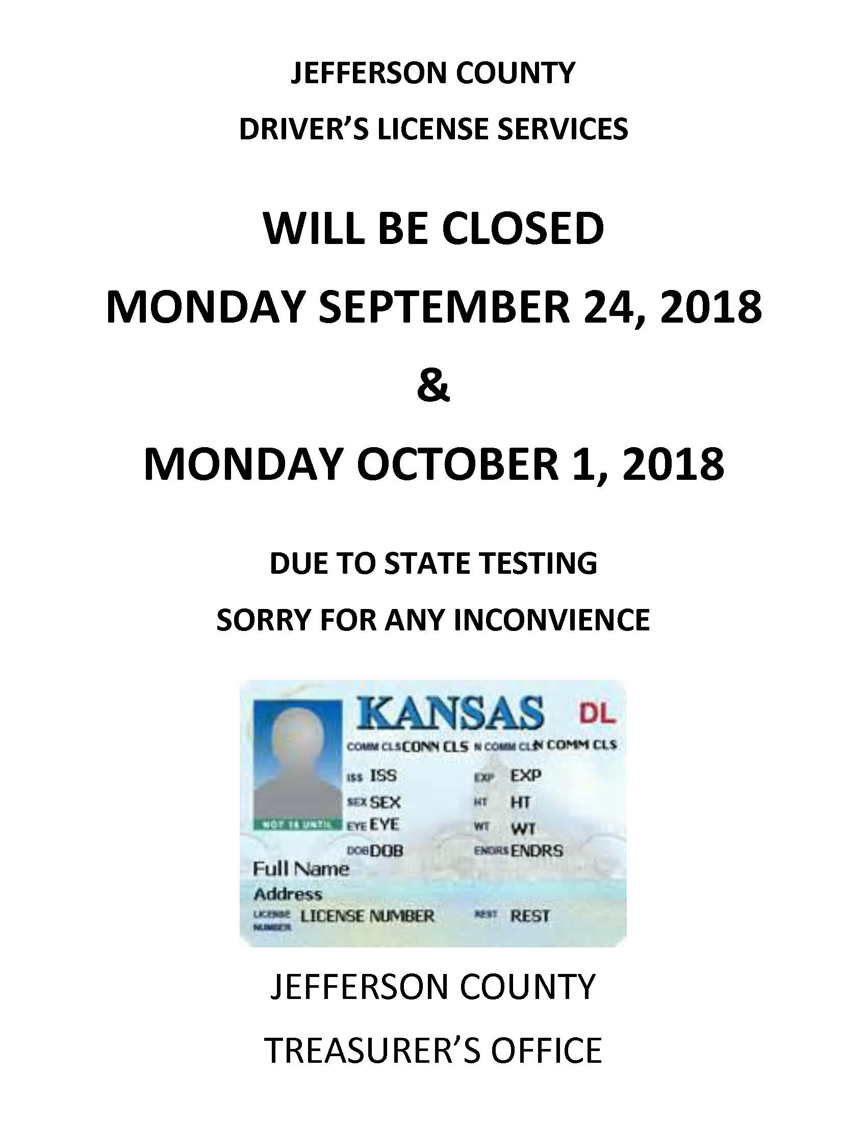 DL CLOSED SIGN 9-20-2018