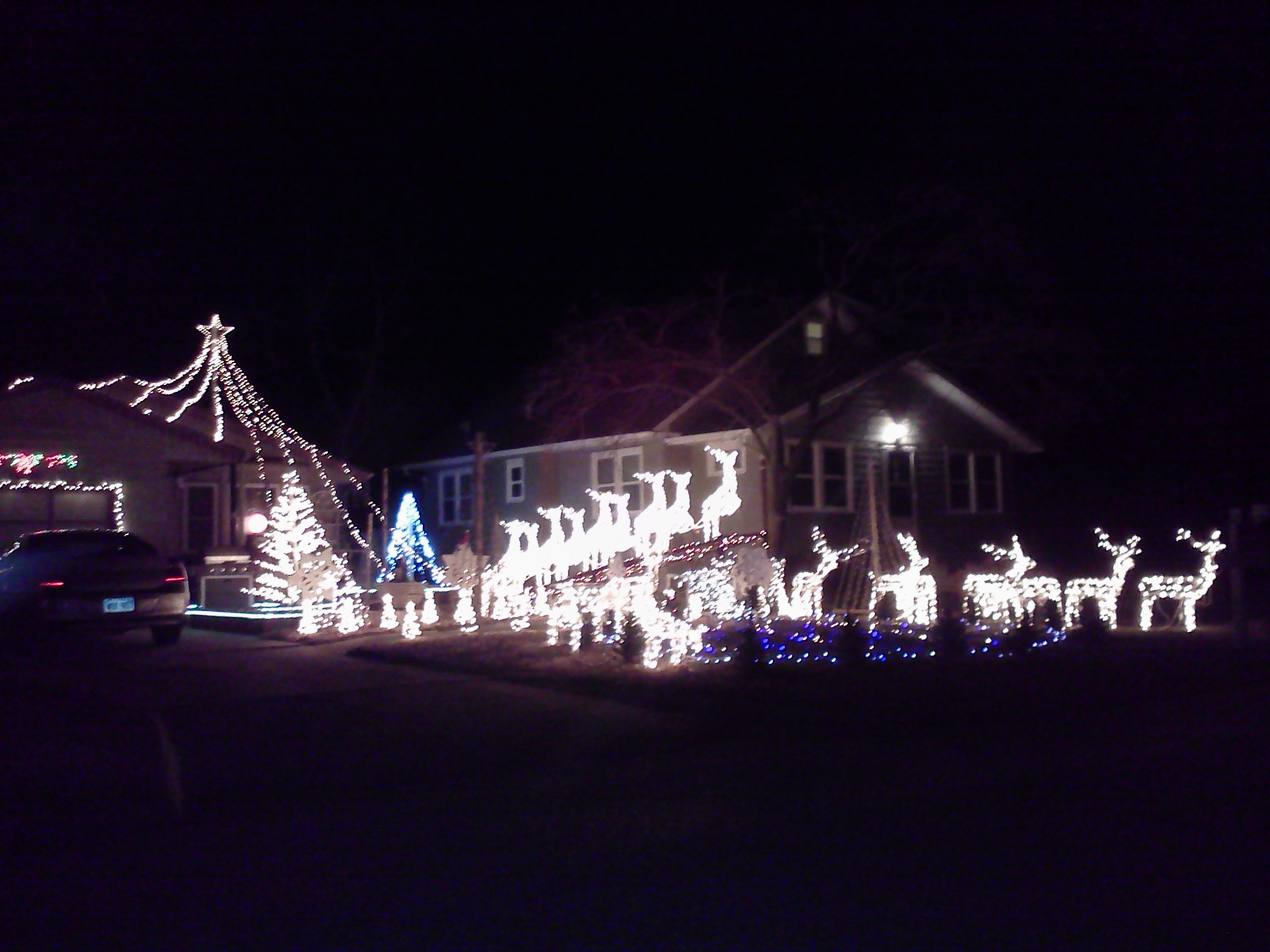 Christmas Display in Meriden